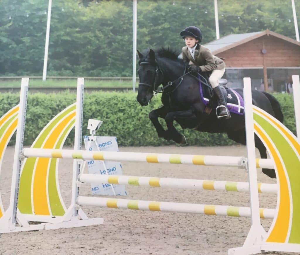 KBIS NSEA Bursary winner Pippa and Tilly Showjumping